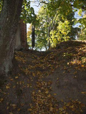 Schody prowadzące na cmentarz