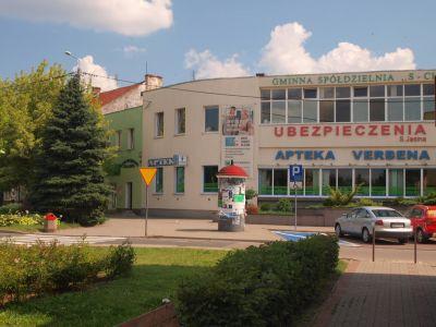 Zaokrąglony budynek przy ul. Bankowej