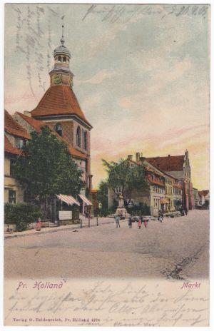 Barkowa wieża kościoła św. Bartłomieja (sprzed pożaru)