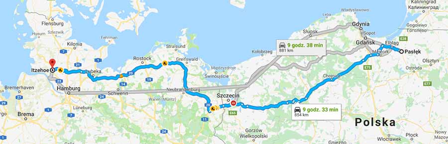 Trasa Pasłęk - Itzehoe